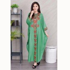 Jfashion Long dress Gamis Maxi variasi Renda tangan Panjang - Sarah