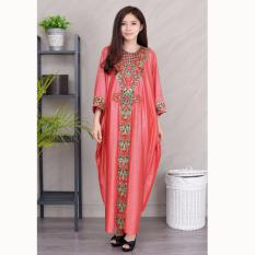 Jfashion Long dress Gamis Maxi variasi Renda tangan Panjang - Sarah