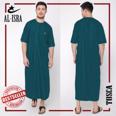 Spesifikasi Jfashion Jubah Gamis Muslim Tangan Pendek Pria Dewasa Jubah Arabi Lengkap