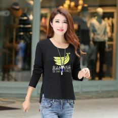 Jfashion Kaos Tshirt Tangan Panjang Wanita Leher O Printing - Mery Banana