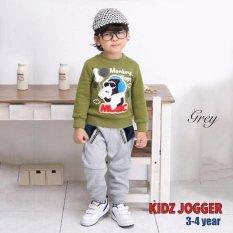 Jfashion Celana Panjang Jogger Training anak 3-5 tahun - Kenz