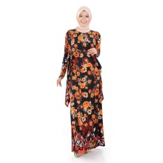 Harga Jfashion Long Dress Gamis Maxi Tangan Panjang Corak Bunga Nabilah Termurah