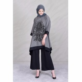Beli Jfashion New Wide Long Tunik Print Beludru 3 4 Sleeve Arimbi Abu Jfashion Murah