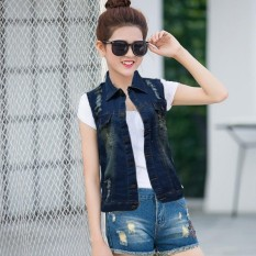 Jfashion Rompi Jaket Jeans Washed Wanita - Jacqline
