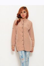 Harga Jfashion Tunik Kemeja Fashion Browny Tangan Panjang Cream Online Indonesia