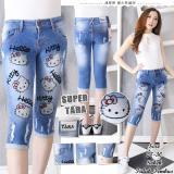 Beli Jhf Jeans 7 8 Hello Kitty Kaki Sobek Kredit
