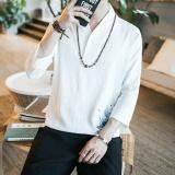 Promo Jhs Bergaya Cina Berukuran Plus Bordir T Shirt Cina Clothinglength Lengan Linen V Neck Lengan Pendek Shirt Pria Cina Linenthin Bagian Musim Panas Putih Intl Oem Terbaru