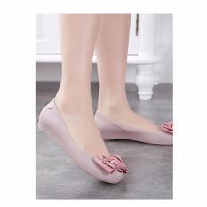 Harga Jiaselin Sepatu Flat Jelly 6021 4 Pink Baru Murah