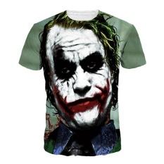 Beli Barang Jiayiqi Funny Joker Lengan Pendek T Shirt Tops Summer Punk Cetak T Shirt Clown Intl Online
