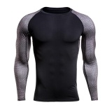 Jual Jiayiqi Men Compression Sports T Shirts Breathable Cotton Long Sleeve Shirts Tops Intl Import