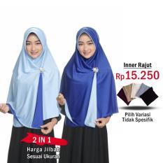 Jilbab 2 Warna Fashion Muslim Terbaru Wanita Kekinian Model Sekarang Model Jaman Now Jilbab Bolak Balik Instan 2 in 1 atau Inner Rajut  Hijab Instant Bergo Dua warna Khimar Syari Jumbo Jilbab Pengajian Multifungsi Pet Anti Tembem Termurah