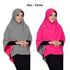 Jilbab 2 Warna / Fashion Muslim Daily / Hijab Bolak Balik Segi Empat Jumbo Syari / Khimar Jilbab Square Terkini Model Sekarang / Model Baru