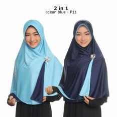 Jilbab 2 Warna Hijab Instan Bolak Balik Fashion Wanita Muslimah Terbaru Modern Model sekarang Kerudung Jumbo Syari Termurah