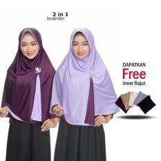 Jilbab 2 Warna Hijab Instan Kerudung Lanfusng Pakai Model Baru Hijab Bolak Balik Dua Warna 2 in 1 Original Grade A Fashion Muslim Wanita Remaja Modern