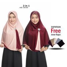 Jilbab 2 Warna Kerudung Instan Bergo Bolak balik Jumbo Syari Fashion Muslim Terbaru Wanita Atasan Modern Model Sekarang Khimar Syari Panjang Termurah Harga Grosir
