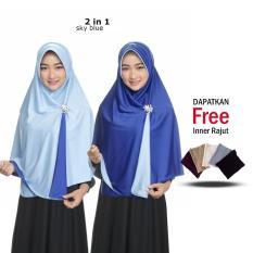 Jilbab 2 Warna / Kerudung Instan / Bergo Bolak balik / Jumbo Syari / Fashion Muslim Terbaru Wanita / Model Sekarang / Khimar Syari Panjang / Termurah Harga Grosir