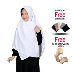 Jilbab 2 Warna Zannah Hijab Fashion Muslim Terbaru untuk Wanita Modern Model Sekarang Jaman Now Jilbab Segi4 Wolfis Kerudung Segiempat Polos Jumbo Syari Terbaru Paling Murah Free Inner + Kaos Kaki Wudhu