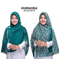 Jilbab 2 Warna / Jilbab Humaira Instan Bolak Balik Motif Polos / Khimar Syari Bergo / Instan Jumbo Fashion Muslim Terbaru Modern Model Baru / Bahan Kualitas Grade A - Emerald