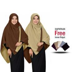 Jilbab 2 Warna Zannah Hijab Jilbab Segi Empat Bolak Balik Dua Warna Jumbo Syari Kerudung Modern Masa Kini Fashion Muslimah Atasan Anak Perempuan Terbaru Termurah cocok untuk Pengajian Bahan Premium Grade A