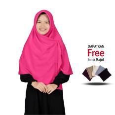 Jilbab 2 Warna Zannah Hijab New Fashion Muslimah Terbaru Paling Laris Jilbab Segi4 Zafira Hijab Bahan Wolfis Premium Grade A Termurah Jumbo Syari