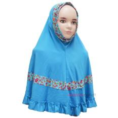 Beli Jilbab Anak Bunga Biru Online Terpercaya