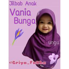 Jilbab anak vania bunga/jilbab kaos anak/ jilbab bergo anak