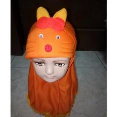 Jilbab Bayi Lucu Karakter Kucing