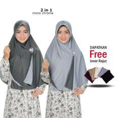 Jilbab Bolak Balik Zannah Hijab Fashion Wanita Terbaru Jilbab HIjab Instant Khimar Hitam Pet Anti Tembem Model Sekarang Model Terbaru Syari Panjang Free Inner Rajut Anti Pusing