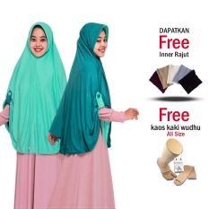Jilbab Bolak BalikJilbab 2 Warna Hijab Bergo Instan Bolak Balik 2 in 1 Grade A Fashion Muslim Terbaru Modern Masa Kini Jumbo Syari Panjang Free Inner dan Kaos kaki Wudhu