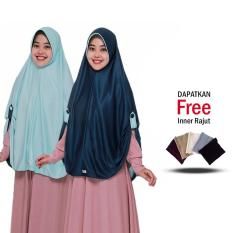 Jilbab Bolak Balik / Jilbab 2 Warna / Hijab Bergo / Instan / Bolak Balik 2 in 1 Grade A / Fashion Muslim Terbaru / Modern Masa Kini Jumbo / Syari Panjang