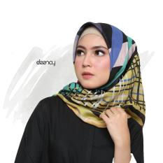 Jilbab Printing Segi Empat Halus Lembut Deenay Eksklusif Carin Original