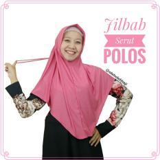 Jilbab Hijab Khimar Instan Serut Jokowi Polos Oleh Oleh Haji dan Umroh - Dusty Pink