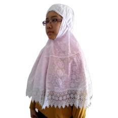 Jilbab Ihram Katun Jepang Polos Putih