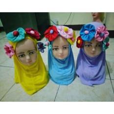 Jilbab Instan Anak Bunga Jual Eceran