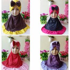 Jilbab Instan Anak Set Turban Bunga Cantik