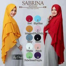 Jilbab Instan Cantik Khimar Syar'i Sabrina 3 Layer Hijab