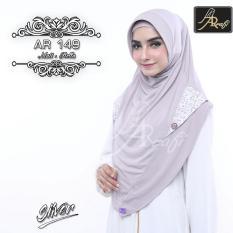 Hijab Instan Arrafi Rumana Rempel Warna Dark Pink Jilbab Kerudung Source · jilbab instan Eskudo Button Flower warna Abu or Silver AR149 hijab kerudung
