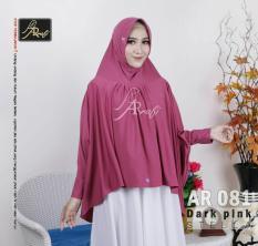 jilbab instan Helwa Arrafi (warna Dark Pink) AR081 hijab kerudung bergo syari cadar busana muslim gamis