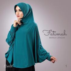 Jilbab Instan kerudung Hijab Bergo Lengan Fatimah - Tosca