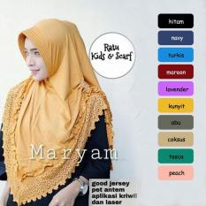 Jilbab Instan Murah Maryam Cuting Laser  / Hijab  Syari / Vanilla Hijab / Grosir Jilbab