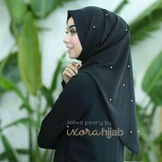 Jilbab Instan Murah Salwa Pearly Hitam/ Khimar Syari / Hijab Terbaru / Gamis Syari / Fashion Murah