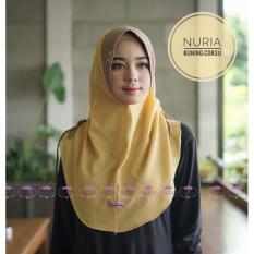 Review Toko Jilbab Instan Nuria By Linalivia Warna Kuning Coksu Hijab Kerudung Bergo Jilbab Fashion Gamis