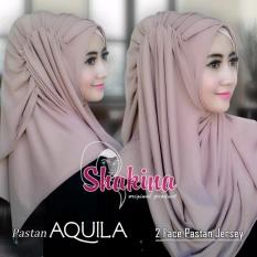 Jilbab Instan Pastan Aquila - Moca