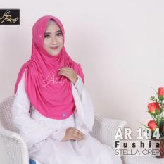 jilbab instan Rumana Plain Arrafi (warna Fushia) - AR104 - hijab kerudung khimar bergo