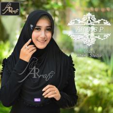Jilbab Instan Rumana Rempel Arrafi Warna Black Ar58P Hijab Kerudung Khimar Asli