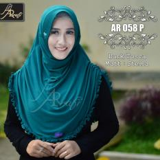 Jilbab Instan Rumana Rempel Arrafi Warna Dark Toska Ar58P Hijab Kerudung Khimar Arrafi Murah Di Indonesia