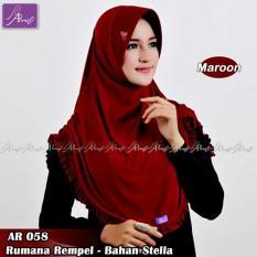 Jilbab instan Rumana Rempel Arrafi (warna Marun) - AR58p - Hijab Kerudung Khimar