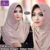 Spesifikasi Jilbab Instan Rumana Rempel Arrafi Warna Mocca Ar58P Hijab Kerudung Khimar Bergo Baru