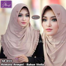 Beli Jilbab Instan Rumana Rempel Arrafi Warna Mocca Ar58P Hijab Kerudung Khimar Bergo