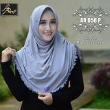 Beli Jilbab Instan Rumana Rempel Arrafi Warna Silver Ar58P Hijab Kerudung Khimar Bergo Kredit
